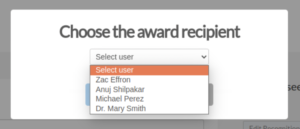 Multiple Recipients for an award