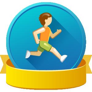 Running man badge