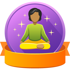 Meditating badge